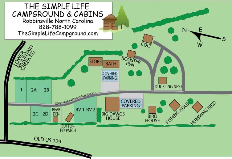 Property Layout Simple Life Campground Cabins